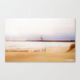 St. Joseph Silver Beach Lighthouse Canvas Print