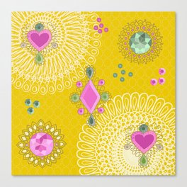 Brooches - yellow Canvas Print