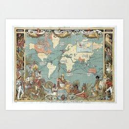 The British Empire 1886 Art Print