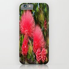 Wild fluffy red flowers Slim Case iPhone 6s