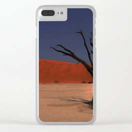 Haunting Deadvlei Namibia Africa Clear iPhone Case