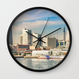 Yokohama Coast Cityscape, Japan Wall Clock