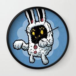 Rabbit doodle Wall Clock