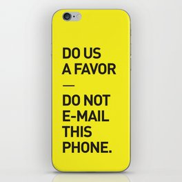 Save the planet. iPhone Skin