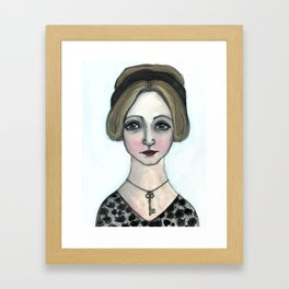 "Anais Nin Literary Portrait, ""Winter of Anais"" Framed Art Print"