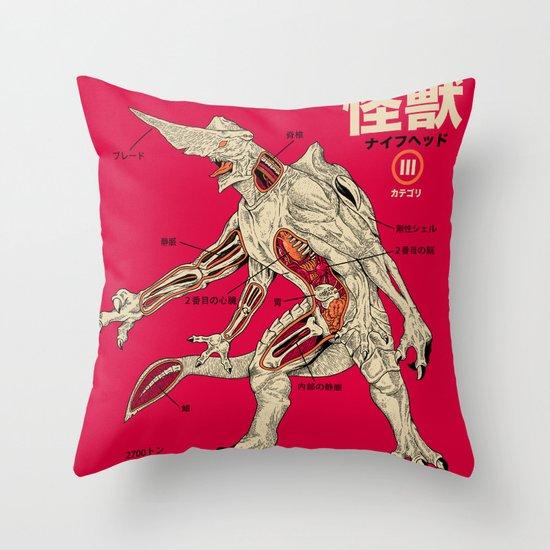 Kaiju Anatomy Throw Pillow