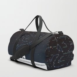 Falling star constellation Duffle Bag