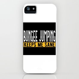 Bungee Jumping Lovers Gift Idea Design Motif iPhone Case