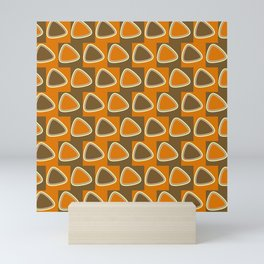 Odd triangles orange and dark gamboge Mini Art Print