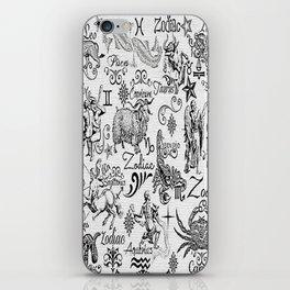 ZODIAC CANVAS CALLIGRAPHY iPhone Skin