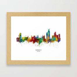 Karachi Pakistan Skyline Framed Art Print