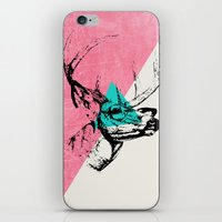 techno iPhone & iPod Skins featuring Techno Deer by Zeke Tucker