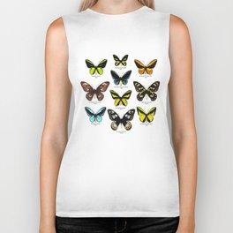 Butterfly012_Ornithoptera Set1 on White Background Biker Tank