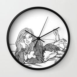 Lazy girl Wall Clock