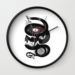 Snake One Eyed Wall Clock