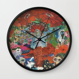 Psychedelic Brazil Wall Clock