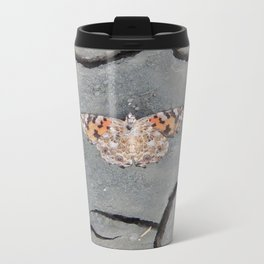 Butterfly on Crack Metal Travel Mug