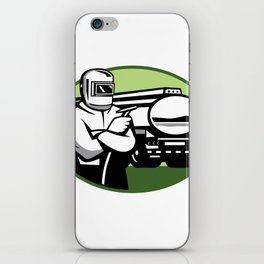 Tig Welder Tanker Truck Oval iPhone Skin