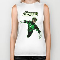 green lantern Biker Tanks featuring Green Lantern by Metalot
