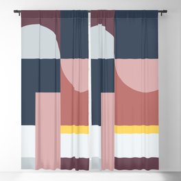 Abstract Geometric 05 Blackout Curtain