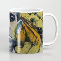lovecraft Mugs featuring Lovecraft by Michael Creese