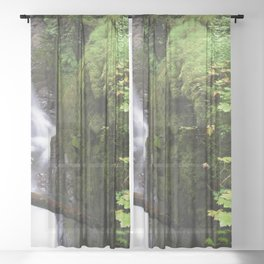 Sol Duc Falls Sheer Curtain