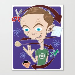 THE BIG BANG - SHELDON COOPER Canvas Print