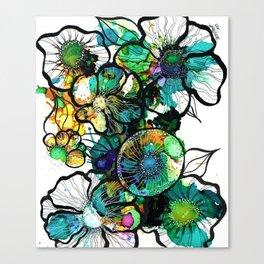 Turquoise Efflourescence Canvas Print