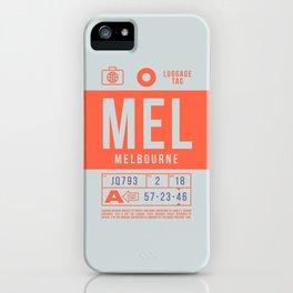 Baggage Tag B - MEL Melbourne Tullamarine Australia iPhone Case