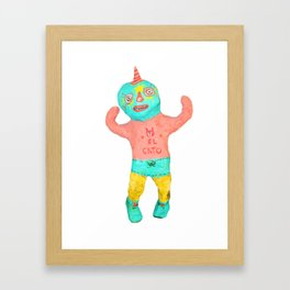 el gato Framed Art Print