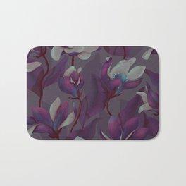 magnolia bloom - nighttime version Bath Mat