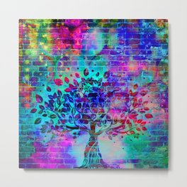 wall graffiti Metal Print