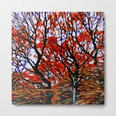 Raging Trees Metal Print