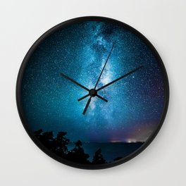 The Galaxy Landscape (Color) Wall Clock