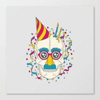 happy birthday Canvas Prints featuring Happy Birthday by Quick Brown Fox