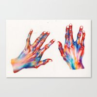 hands Canvas Prints featuring hands by Ania