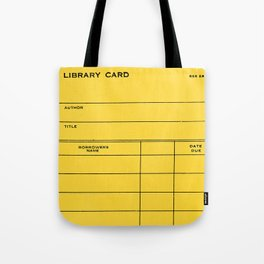 Library Card BSS 28 Yellow Tote Bag