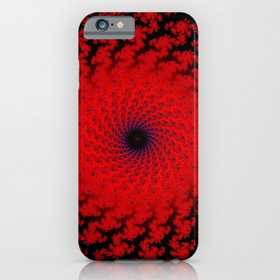 Red Space Spiral Fractal  iPhone & iPod Case