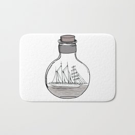 The Ship in the Bulb Bath Mat