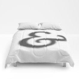 Halftone Ampersand Serif Comforters