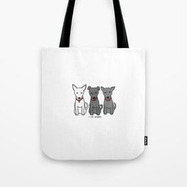 3 Musketeers, I Love Bali Dogs Tote Bag