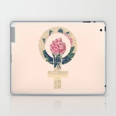 Respect, equality, women's liberation. Feminism Power Fist / Raised Fist Laptop & iPad Skin