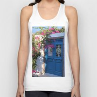 doors Tank Tops featuring Greek Santorini Doors by Brian Raggatt