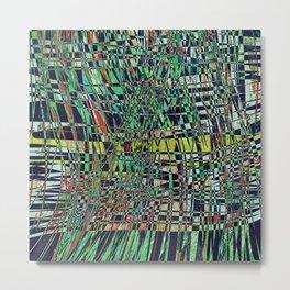 The Grid- Abstract Geometric  Metal Print