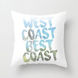 West Coast Best Coast Throw Pillow