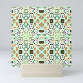 "Seamless pattern in the style of ""printed circuit board"" Mini Art Print"