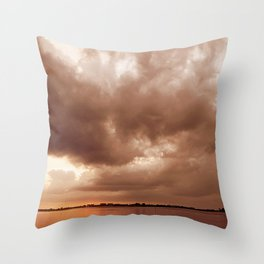 Sunset Storm Throw Pillow