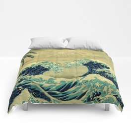 The Great Blue Embrace at Yama Comforters