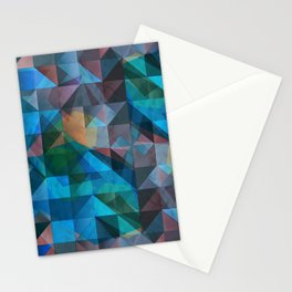 triangular shapes of power Stationery Cards