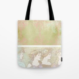 Abstract Pattern:  Shabby Damask Maidens Tote Bag